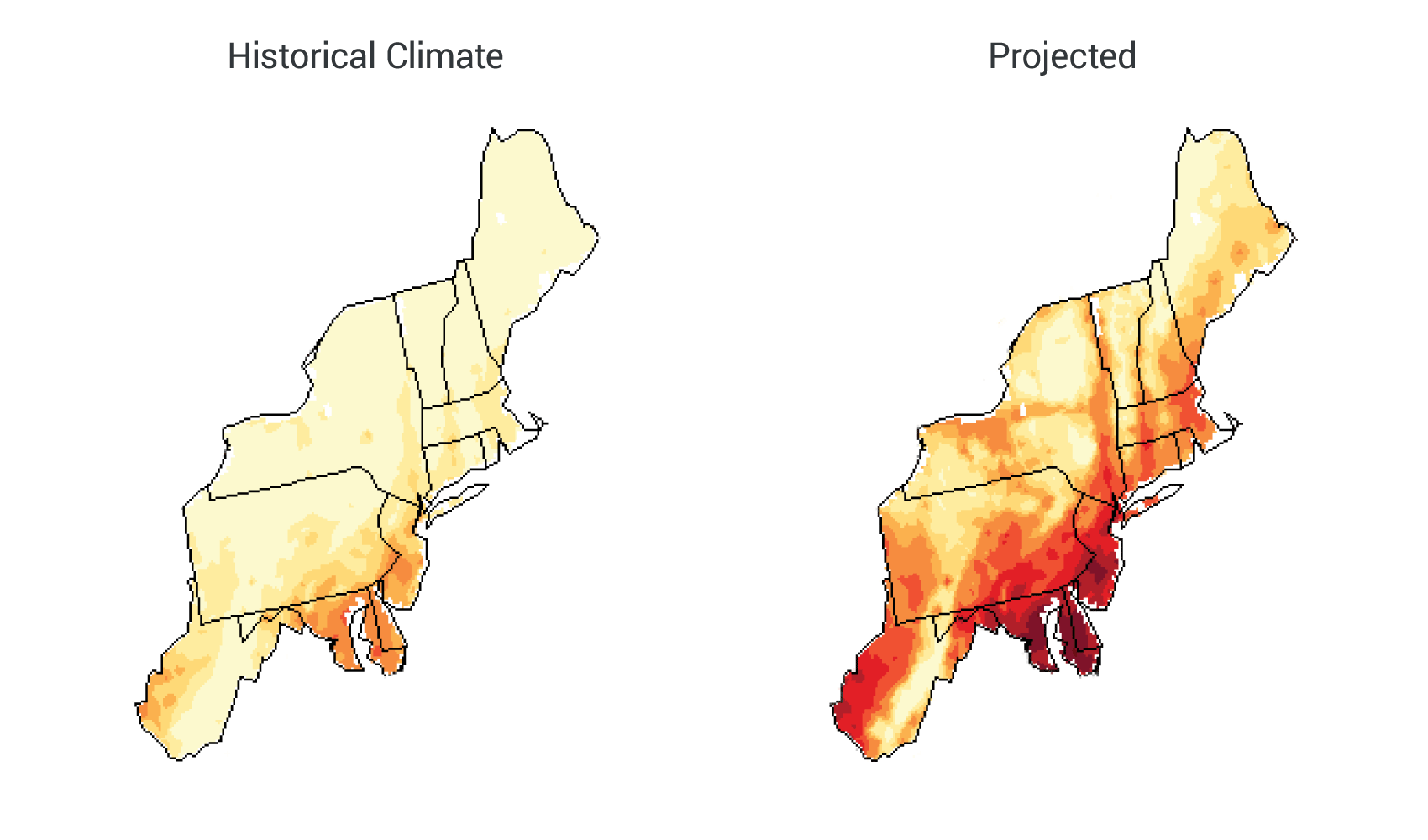 Northeast National Climate Assessment - Airport map of northeast coast of us