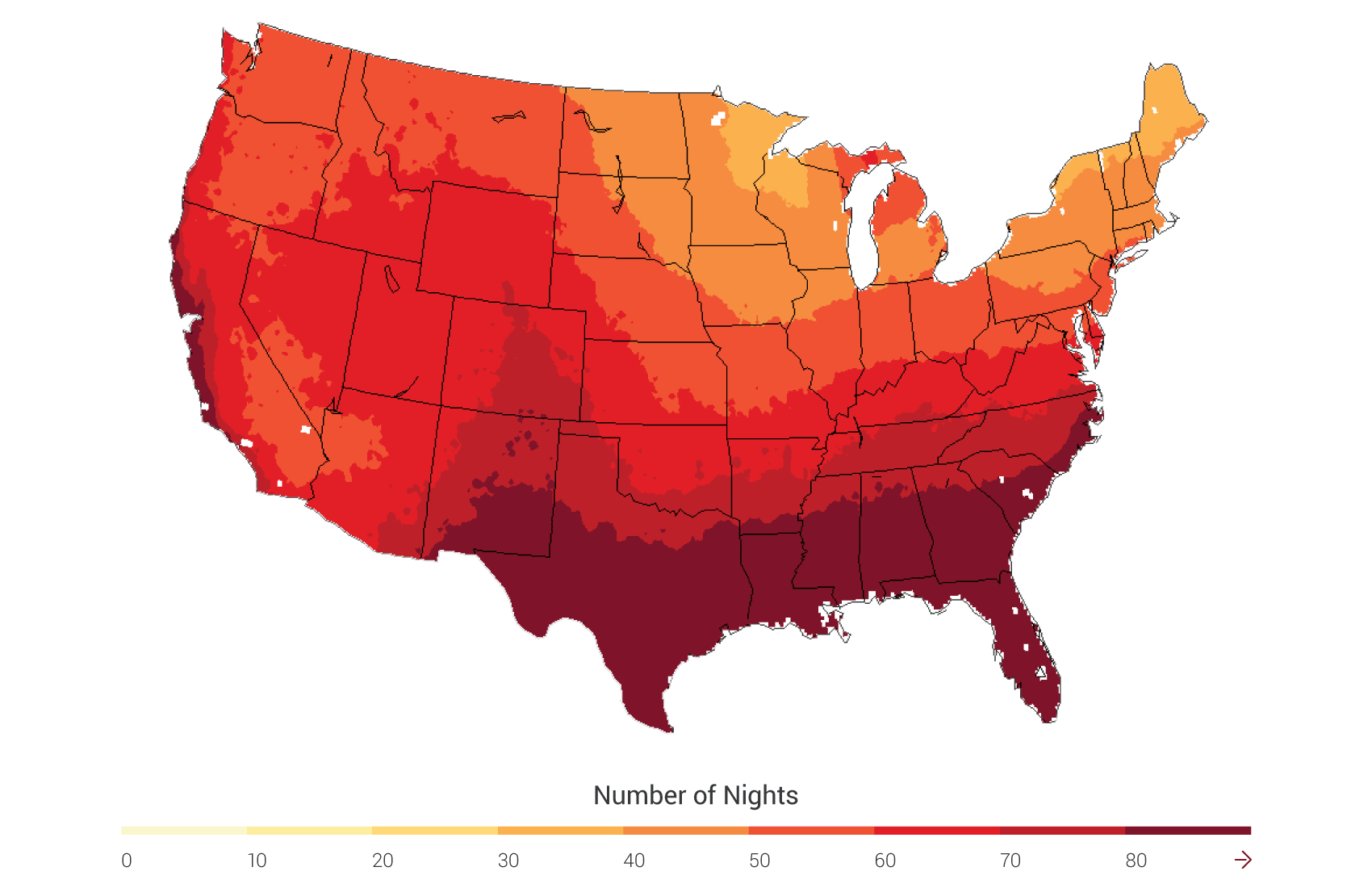 Agriculture National Climate Assessment - Us growing table for tomatoes via map