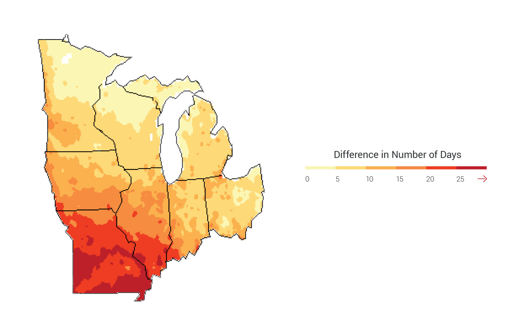 Midwest National Climate Assessment - Us map indicating midwest zone