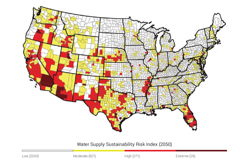 Water Supply National Climate Assessment - Map of water quality in us
