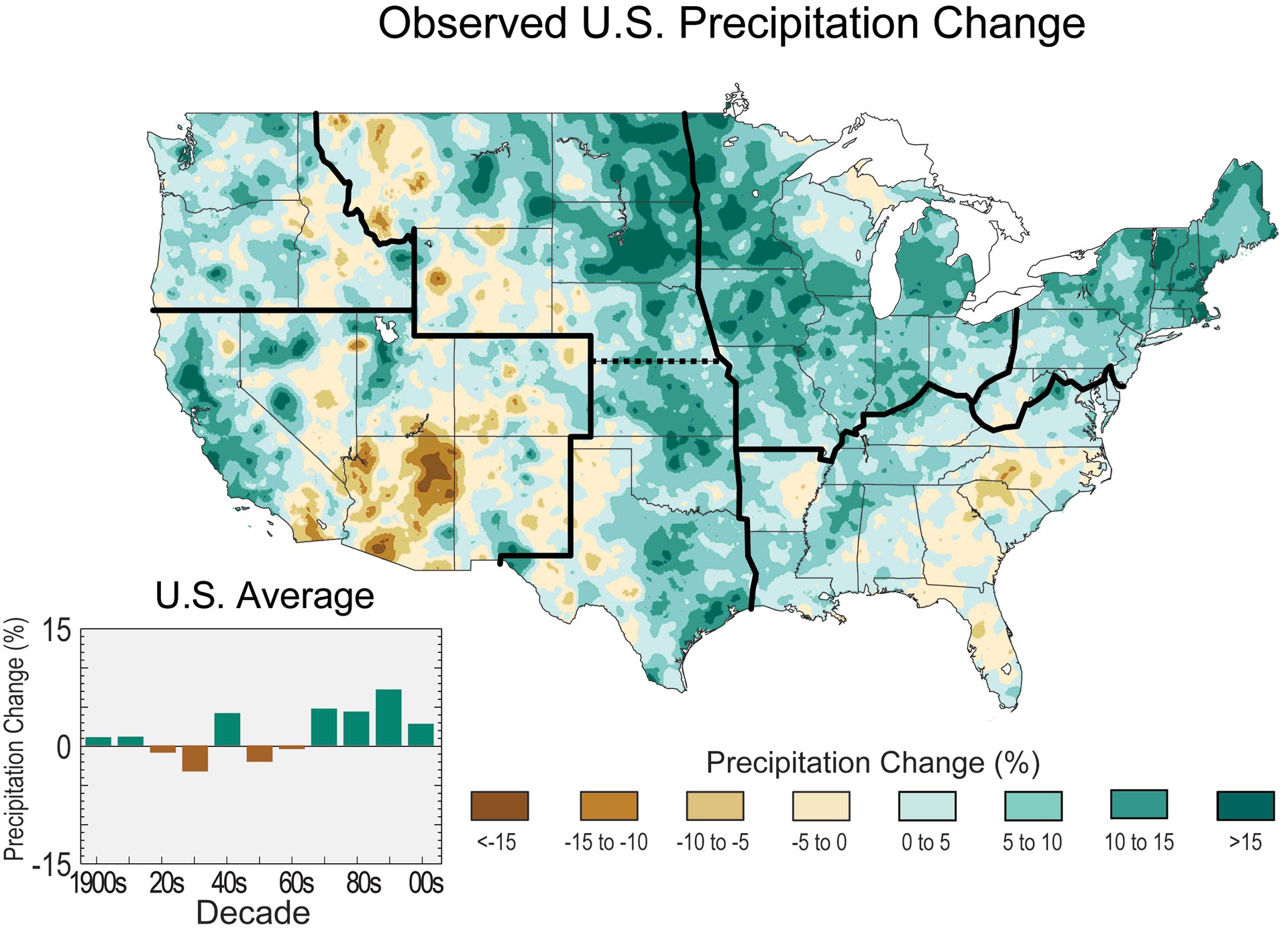 observed u s precipitation change