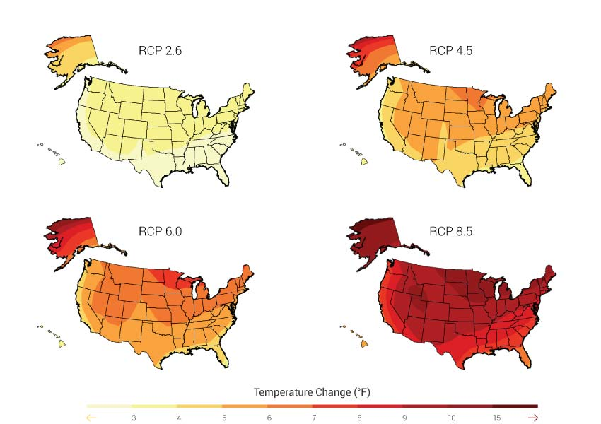Newer Simulations for Projected Temperature (CMIP5 models)