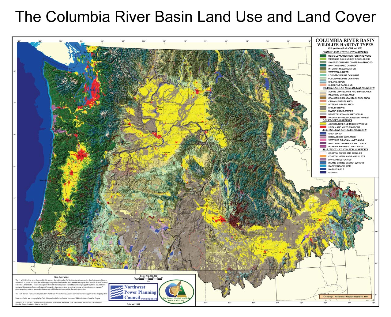 Figure 10 10 The Columbia River Basin Land Use And Land Cover