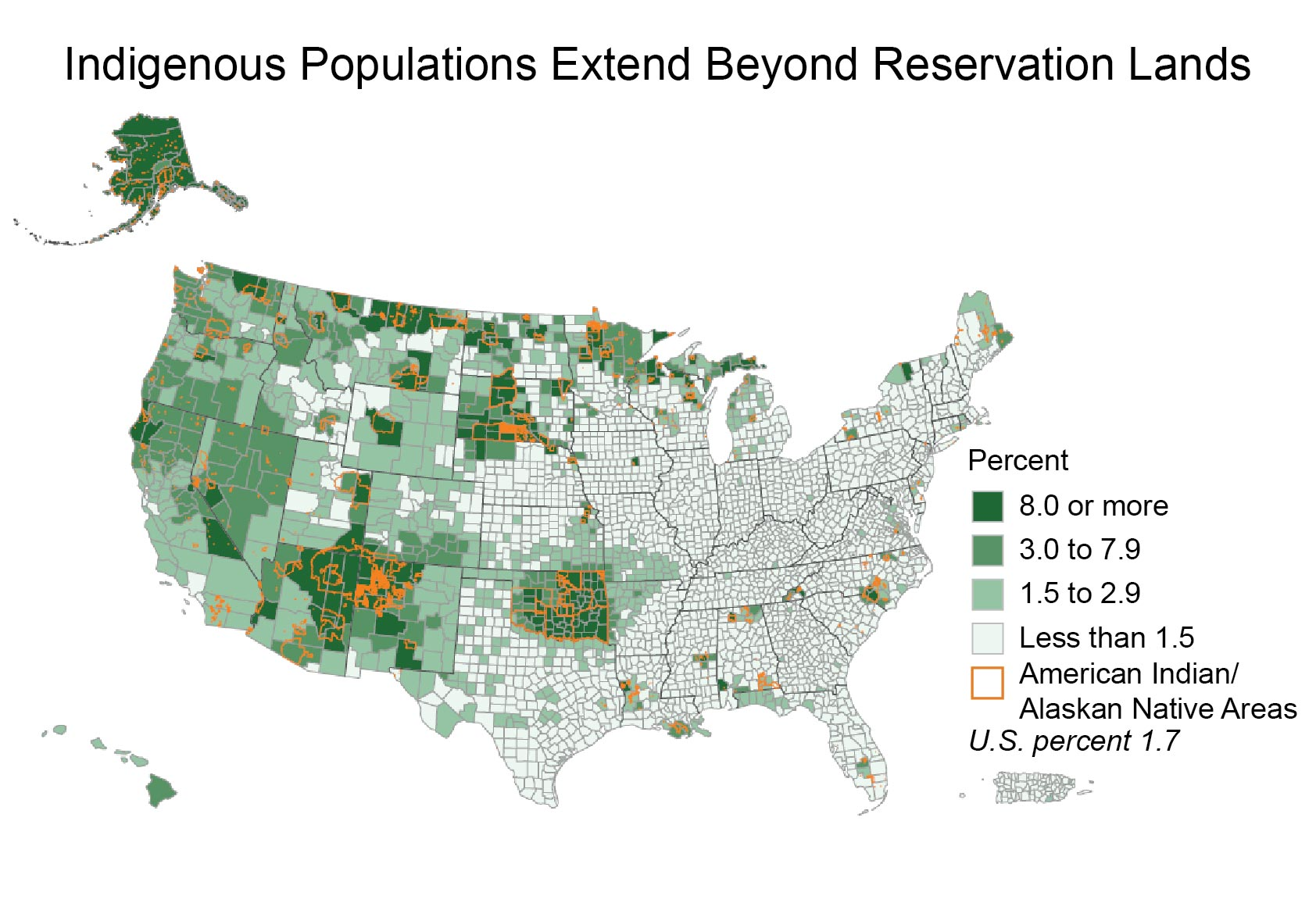 Indigenous Peoples National Climate Assessment - Map of us and canada indiginous popullationns