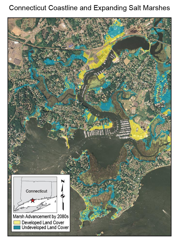 Figure 16 7 Connecticut Coastline And Expanding Salt Marshes