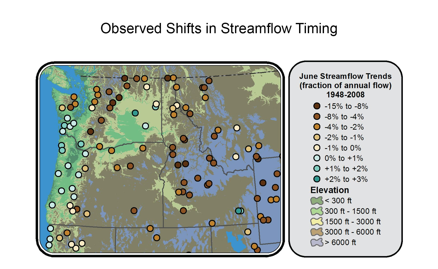 Observed Shifts in Streamflow Timing