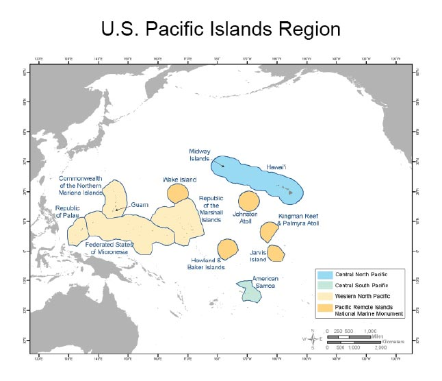 Hawaii And Pacific Islands National Climate Assessment - Us pacific islands map