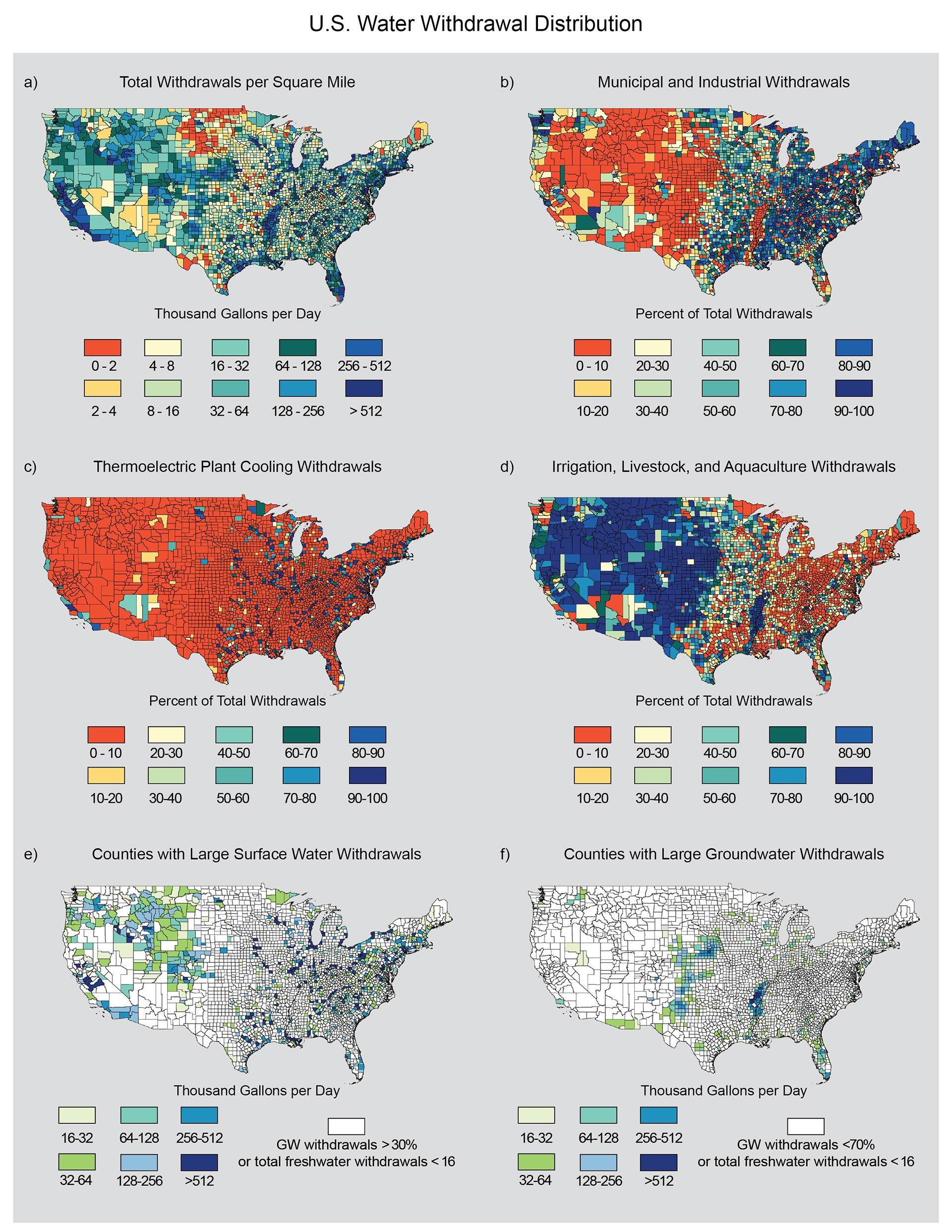 Water National Climate Assessment - Map of water quality in us