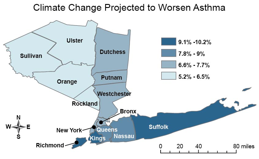 Figure 9 1 Climate Change Projected To Worsen Asthma