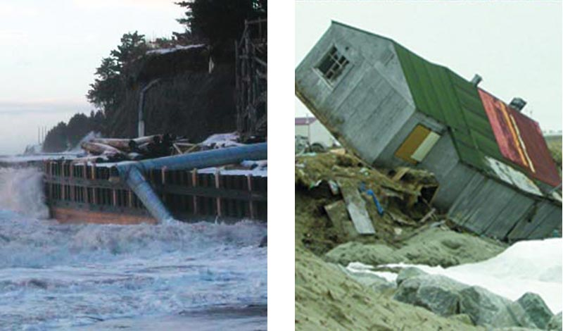 Shore-protection structure; Newtok, Shishmaref village