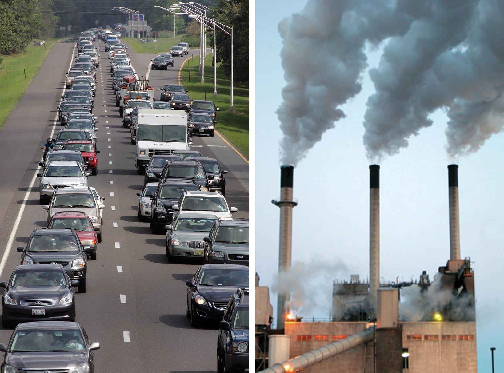 highway traffic; power plant