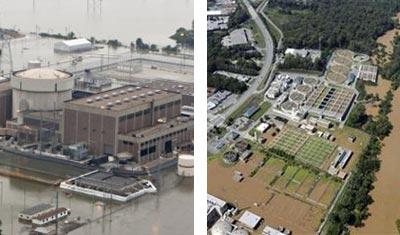 nuclear plant; sewage treatment plant