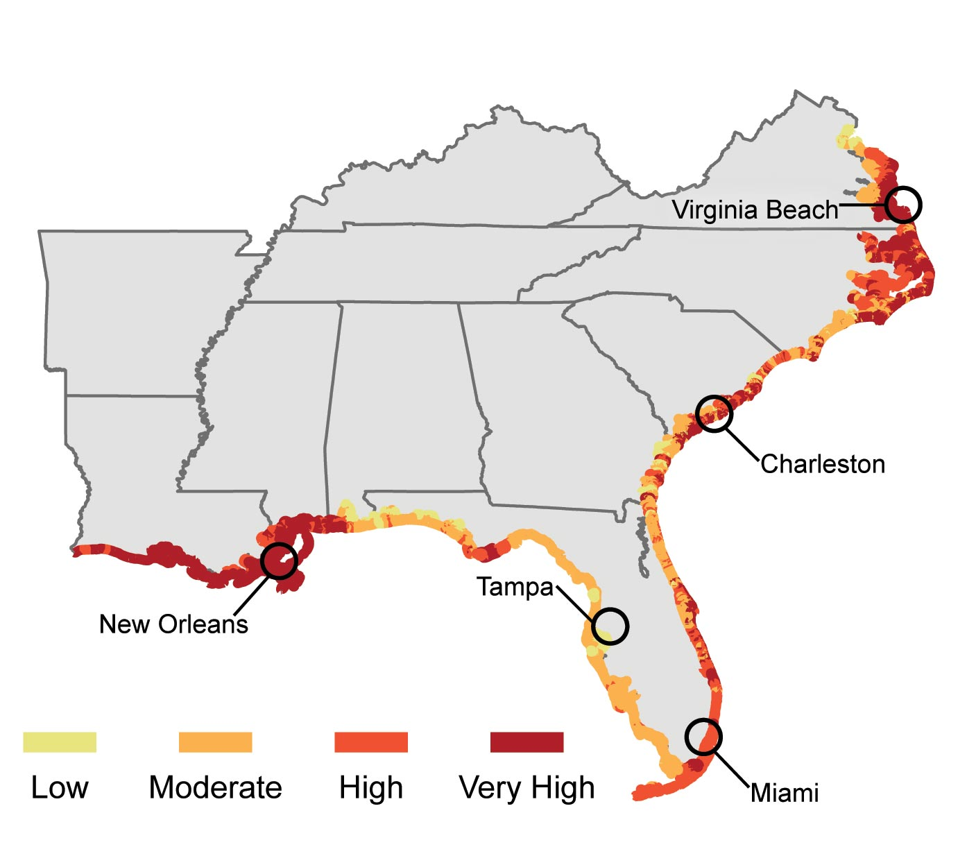 Southeast National Climate Assessment - Us map southeast region