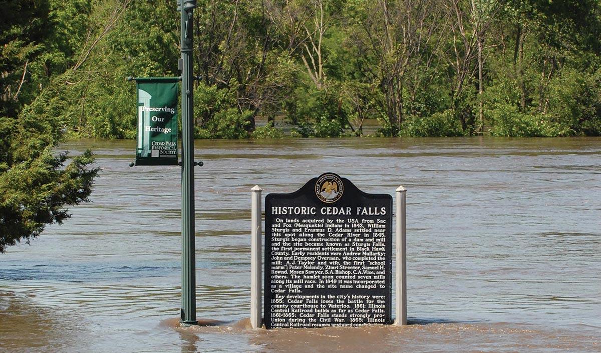 Flood in Cedar Falls